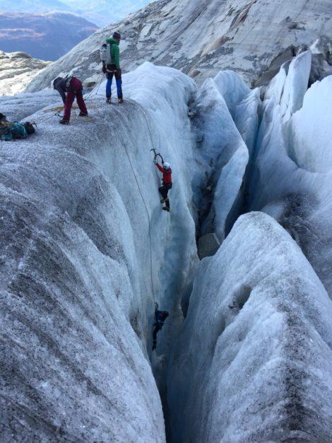 Rohne-Glacier Ice Climbing